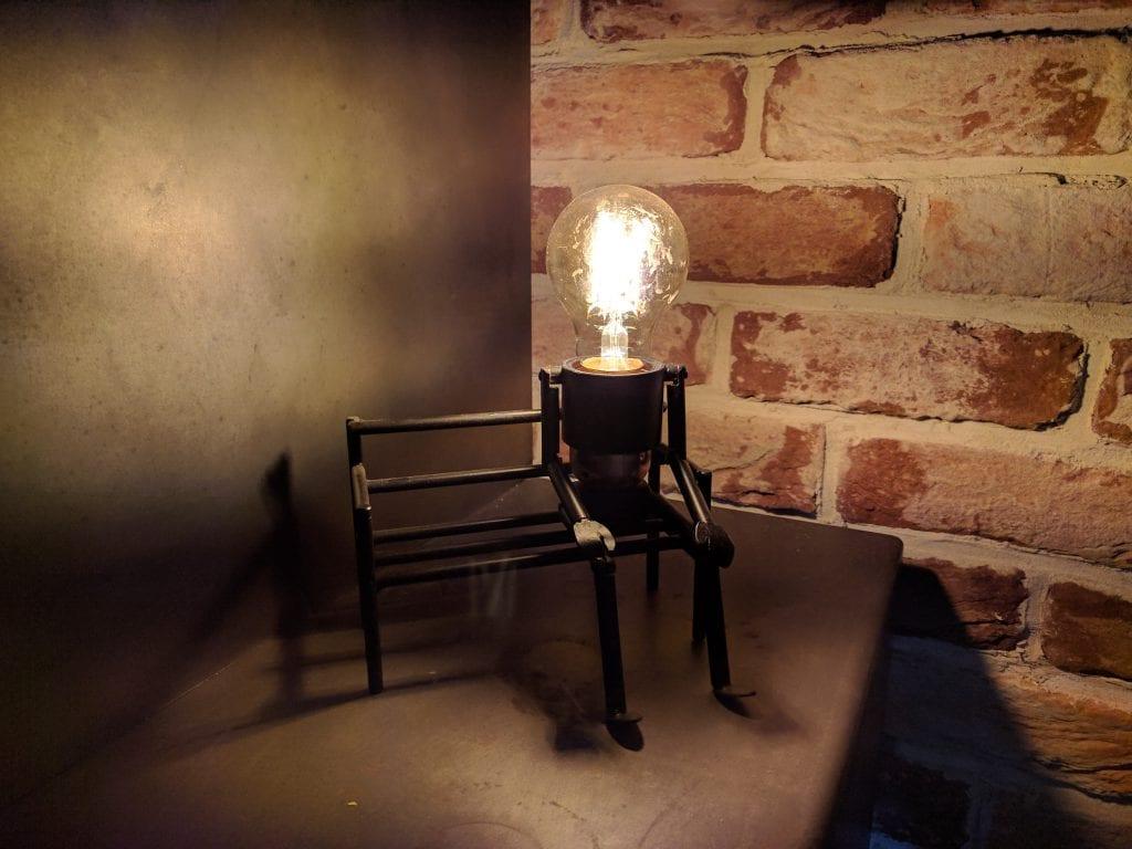 Maatwerk Lampje op Bankje